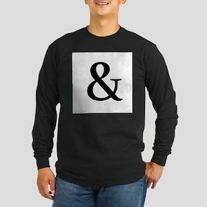 Black Ampersand Long Sleeve T-Shirt