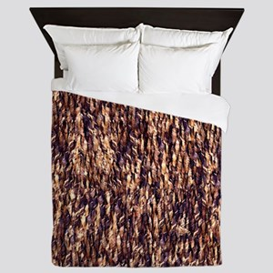 PRINT - rattan wood Queen Duvet