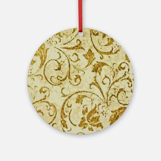 PRINTS - vintage scroll Round Ornament