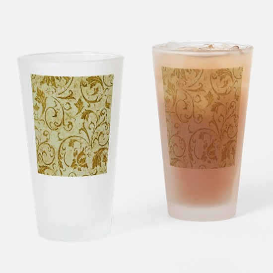 PRINTS - vintage scroll Drinking Glass