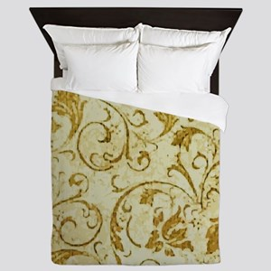 PRINTS - vintage scroll Queen Duvet