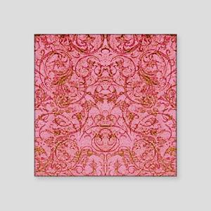 "PRINTS - vintage scroll Square Sticker 3"" x 3"""