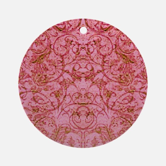 PRINTS - vintage scroll Round Ornament