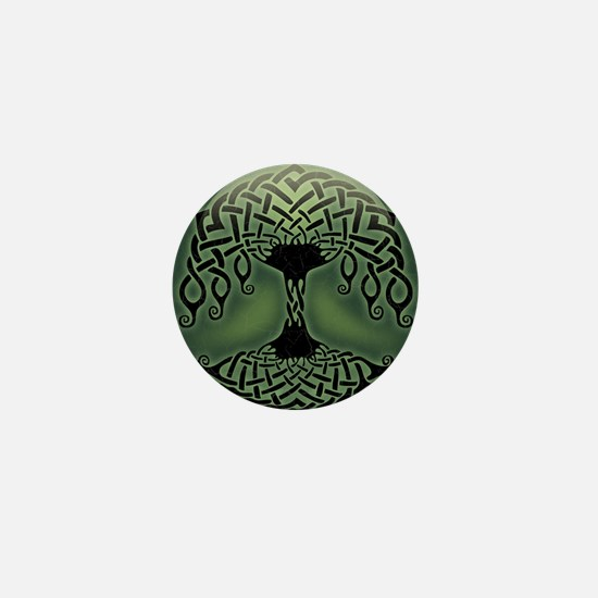 celtic-tree-BUT Mini Button