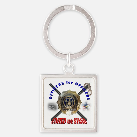 OFFICERS FOR OFFICERS11 Square Keychain