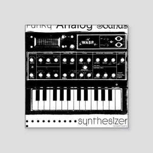 """Synthesizer Square Sticker 3"""" x 3"""""""