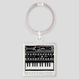 Synthesizer Square Keychain