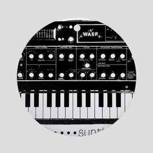 Synthesizer Round Ornament