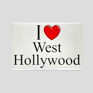 """I Love West Hollywood"" Rectangle Magnet"