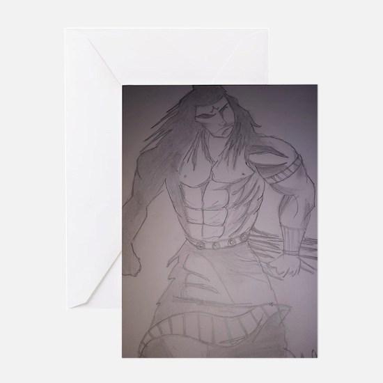 Cute Shiva art Greeting Card