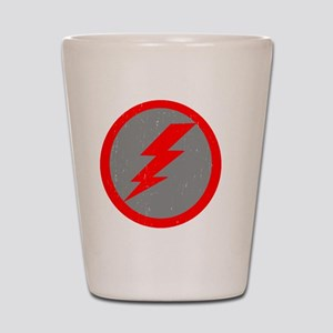 Lightning Bolt Final Red Copy Shot Glass