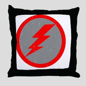 Lightning Bolt Final Red Copy Throw Pillow