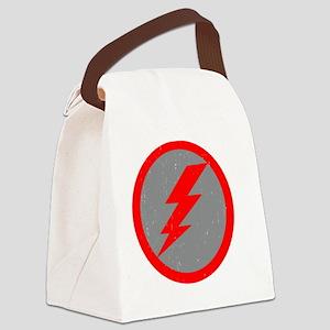 Lightning Bolt Final Red Copy Canvas Lunch Bag