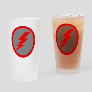 Lightning Bolt Final Red Copy Drinking Glass