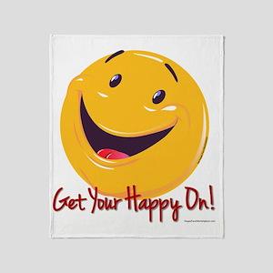 Happy Get Your Happy On 10x10 Throw Blanket