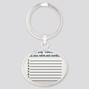 Sexy Babes - Write your number Oval Keychain
