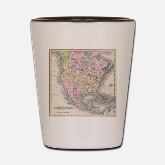 MapNorthAmerica7100 Shot Glass