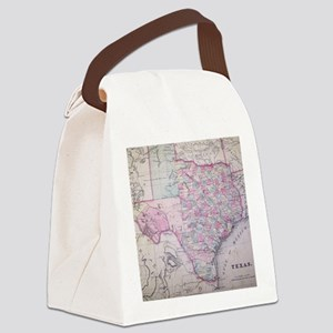 MapTexas7100 Canvas Lunch Bag