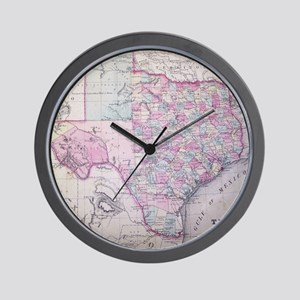 MapTexas7100 Wall Clock