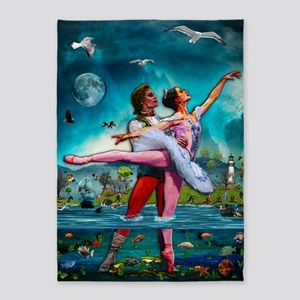 Blue Moon Ballet A Complete Fiction 5'x7'Area Rug