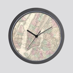 MapNewYork7100 Wall Clock