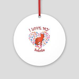 Love My Sokoke Ornament (Round)