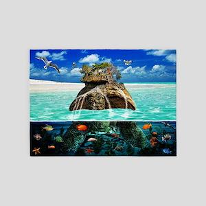 Turtle Island Fantasy Secluded Reso 5'x7'Area Rug