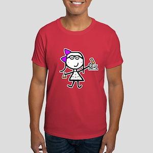 Girl & Microscope Dark T-Shirt