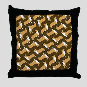 corgifliflops Throw Pillow