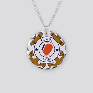 USCG SND 3 Wife Outlines Necklace Circle Charm