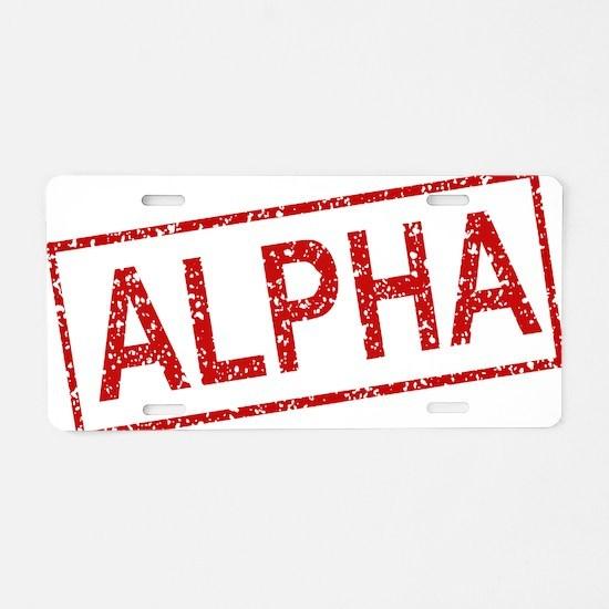 ss-alpha Aluminum License Plate