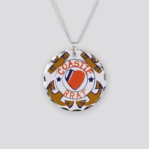 USCG SND 3a Brat Outlines Necklace Circle Charm