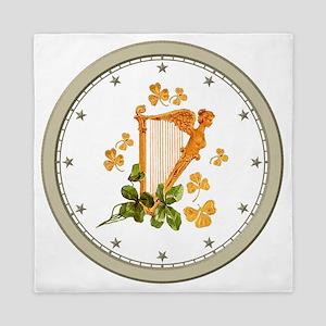 CLOCK A Golden Harp Silver Star Queen Duvet