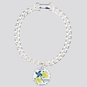 Child Abuse Prevention Charm Bracelet, One Charm