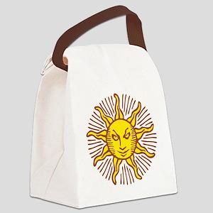 Evil sun Canvas Lunch Bag