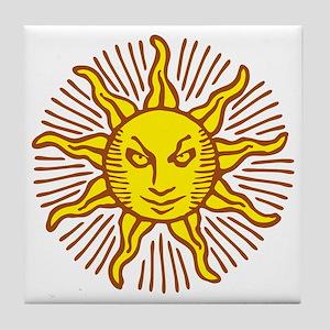 Evil sun Tile Coaster