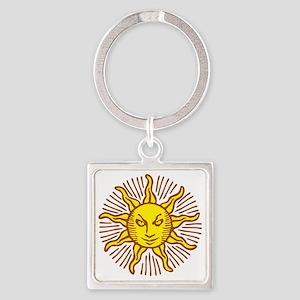 Evil sun Square Keychain