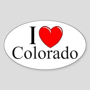 """I Love Colorado"" Oval Sticker"
