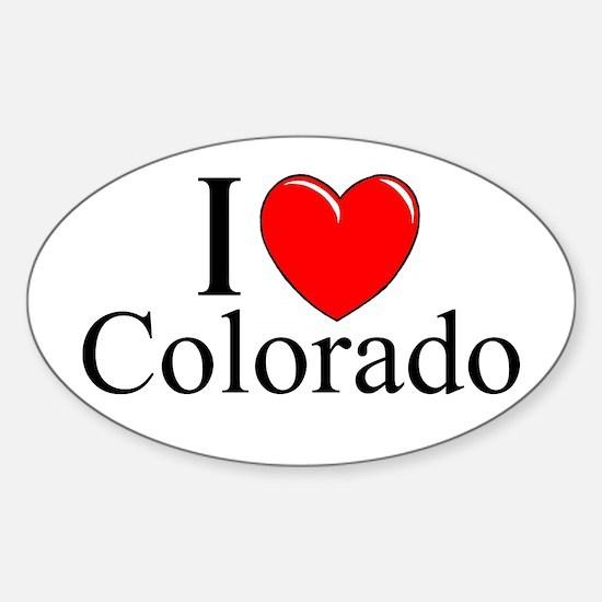 """I Love Colorado"" Oval Decal"