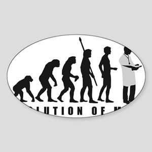 Evolution Arzt 2c Sticker (Oval)