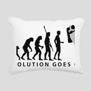 Evolution Astronaut B 2c Rectangular Canvas Pillow