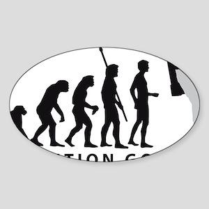 Evolution Astronaut B 2c Sticker (Oval)