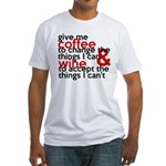 Give Me Coffee And Wine Humor Fitted T-Shirt