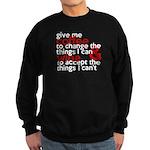Give Me Coffee And Wine Humor Sweatshirt (dark)