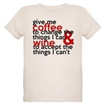 Give Me Coffee And Wine Humor Organic Kids T-Shirt