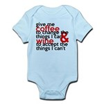 Give Me Coffee And Wine Humor Infant Bodysuit