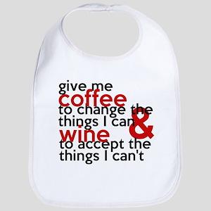 Give Me Coffee And Wine Humor Bib