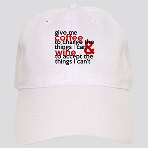 Give Me Coffee And Wine Humor Cap
