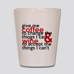 Give Me Coffee And Wine Humor Shot Glass