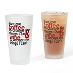 Give Me Coffee And Wine Humor Drinking Glass